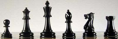 Executive Staunton Tournament Design Set-Black Pieces
